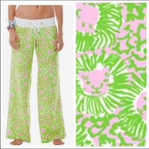 Lilly Pulitzer Beach linen Pant sunny side Lion S